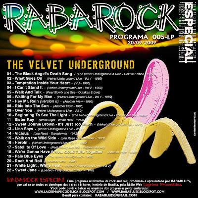 TRACK LIST RABAROCK 005-LP - Velvet Underground