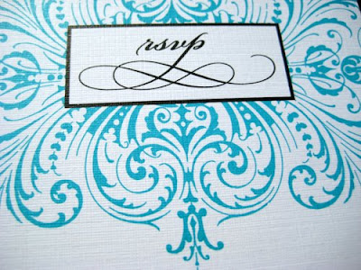 Sneak peak Sarah Jason 39s turquoise wedding invitations