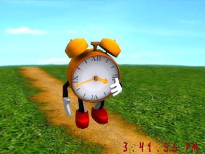 Running Clock Screensaver