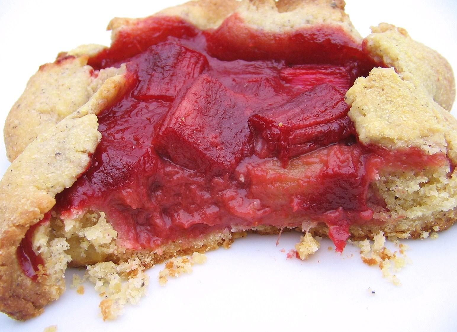 Rustic Rhubarb Tarts Recipe — Dishmaps