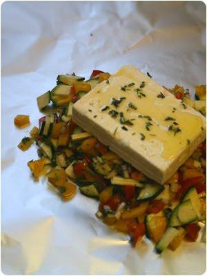 Gemüse, Paprika, Zwiebeln, Tomaten, Ingwer, Knoblauch, Feta, Grillen, Selbermachen, Rezept