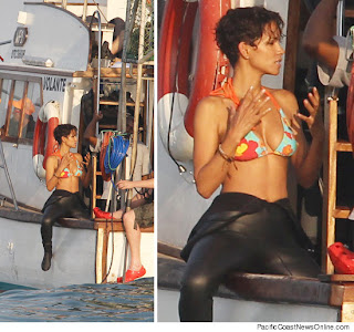 Halle Berry In A Bikini and Wet Suit