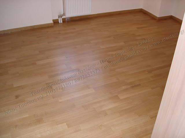 Λουστράρισμα σε δρύινα ξύλινα πατώματα