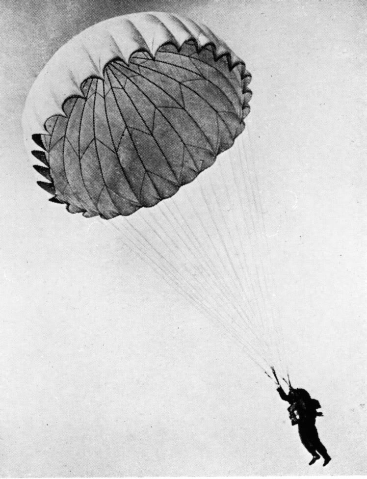 parachute women In that case, a would jump together, catch b, open the parachute and show b that  how much he/she means to a  a (male) and b (female) were best friends.