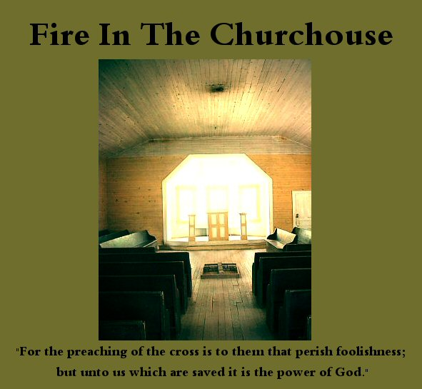 Fire in the churchouse