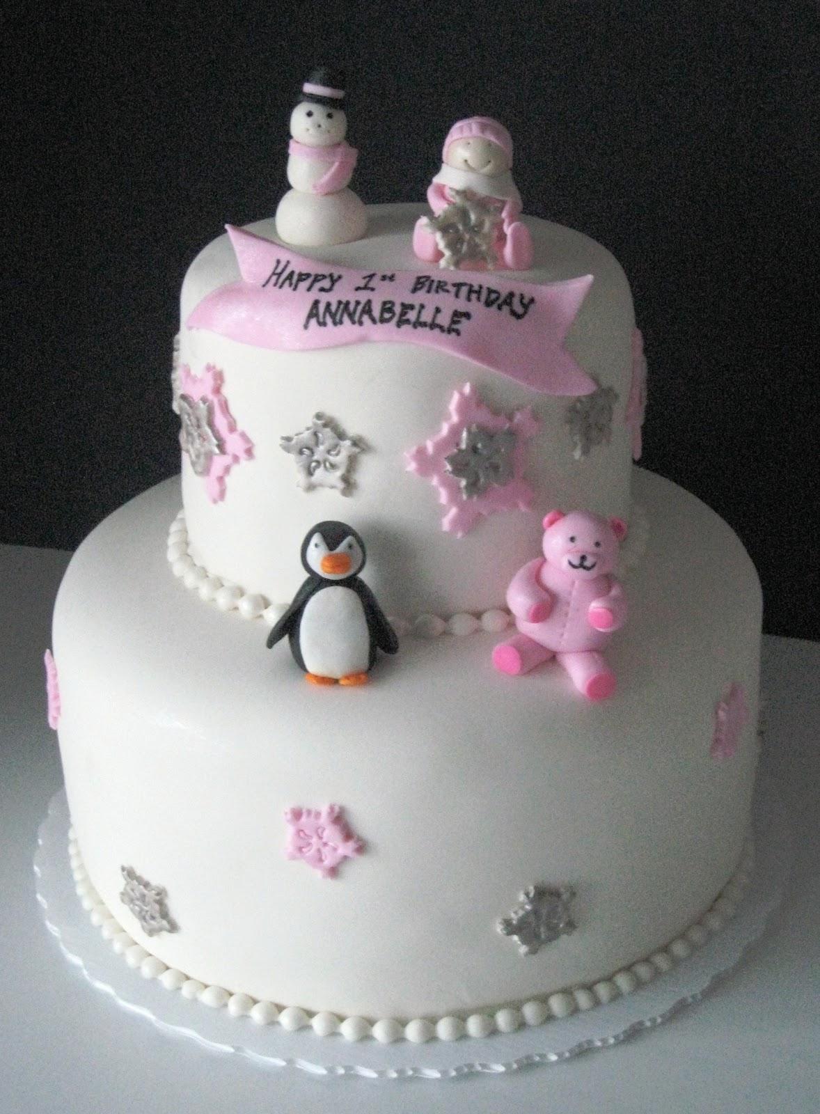 Heavenly Bites Cakes Winter Onederland 1st Birthday Cake