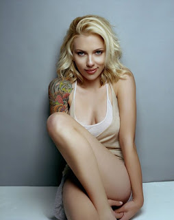 celebrity johansson's sexy tattoo design