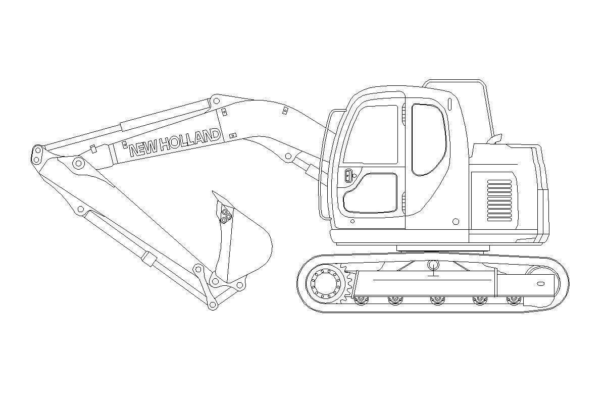 Imagens de #4C4C4C autocad blocos: escavadeixa new holland 1198x798 px 3386 Bloco Cad Janela De Banheiro