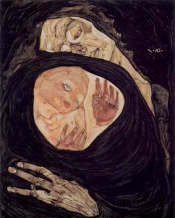 Schiele-Tote Mutter, agonia