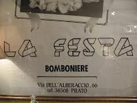 La Festa Bomboniere, Prato, cerimonie
