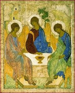 Trinità, Rublev, Dio