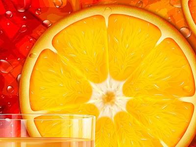3D slike besplatne pozadine download 3D naranča i sok narančada