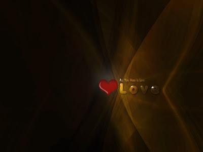 All you need is love - e-card čestitka za Valentinovo
