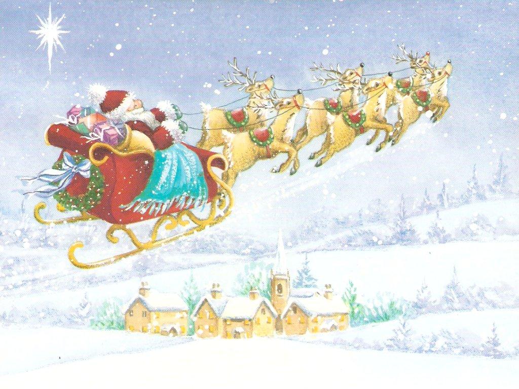 Download besplatne slike i pozadine za desktop: Djed Mraz dolazi za Božić