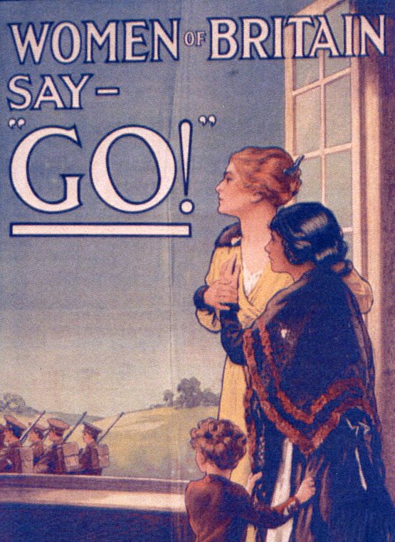 World War I Recruitment Poster. [Image source]. I am working on a book about