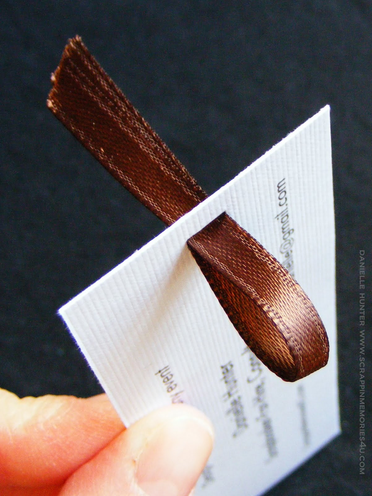 Tutorial: Eco-friendly business card bookmarks | EcoScrapbook