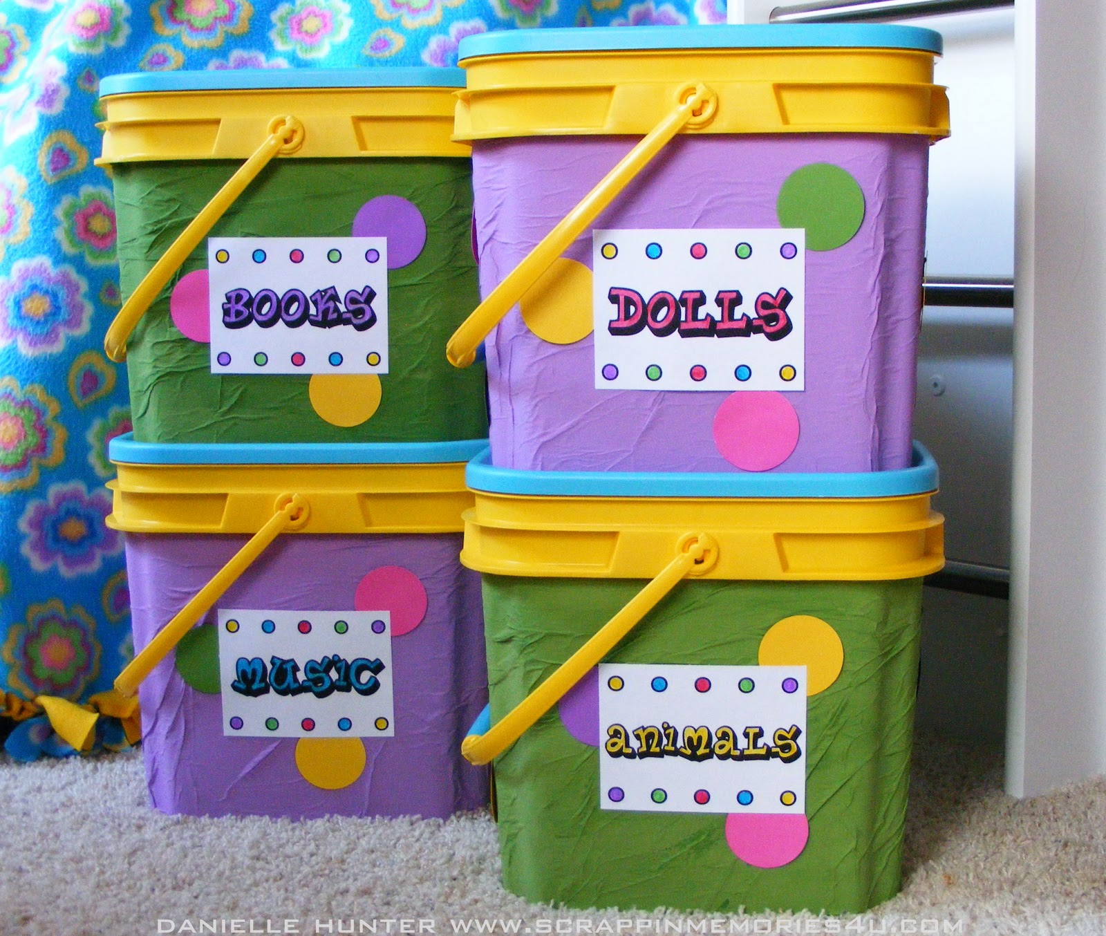 Craft storage drawers plastic - Kids Craft Idea Upcycled Toy Storage Containers