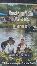 Marché sur l'Eau, affiche 2008