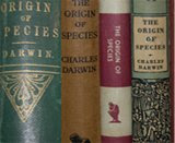 a selection of Darwin's books