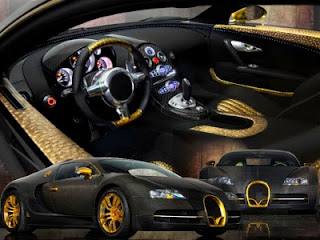 2010 Bugatti Veyron sports car from Mansory Linea Vincero gold