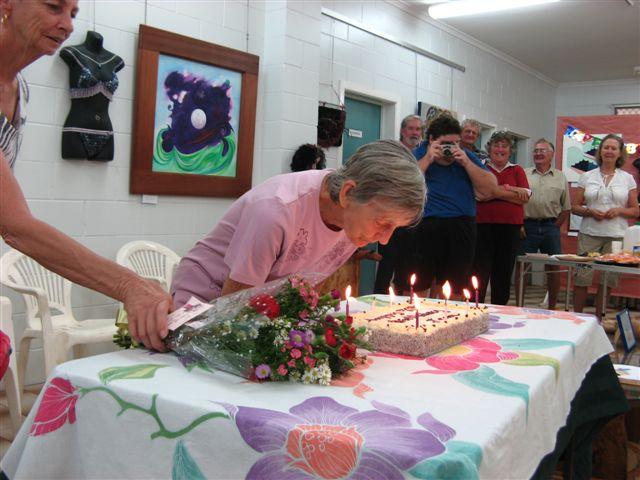 Happy Birthday Jean Haack - most senior Member Cooktown Art Jean+Haack+80th.+Birthday+013