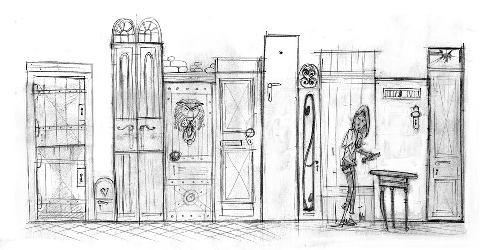 This sketch depicts the scene where Alice finds the key on the glass table which opens the small door. This is very much the style and feel I am looking ...  sc 1 st  Wouter Tulp - blogger & Wouter Tulp | Illustrator |: Alice in Wonderland pezcame.com