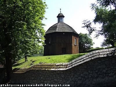 Kościół i drewniana kaplica na Salwatorze Kraków