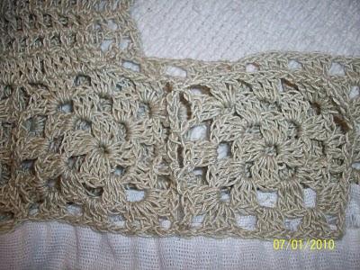 Lelamagdalena vestido con apliques al crochet - Cuadraditos de crochet ...