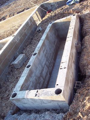 Notre maison en autoconstruction la fosse a vidange pour for Vidange voiture garage