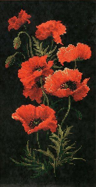 схема вышивки крестом красные