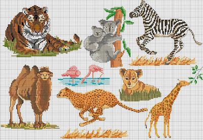 схема вышивки крестом африка