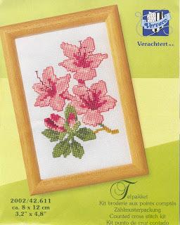 схема вышивки крестом лилии