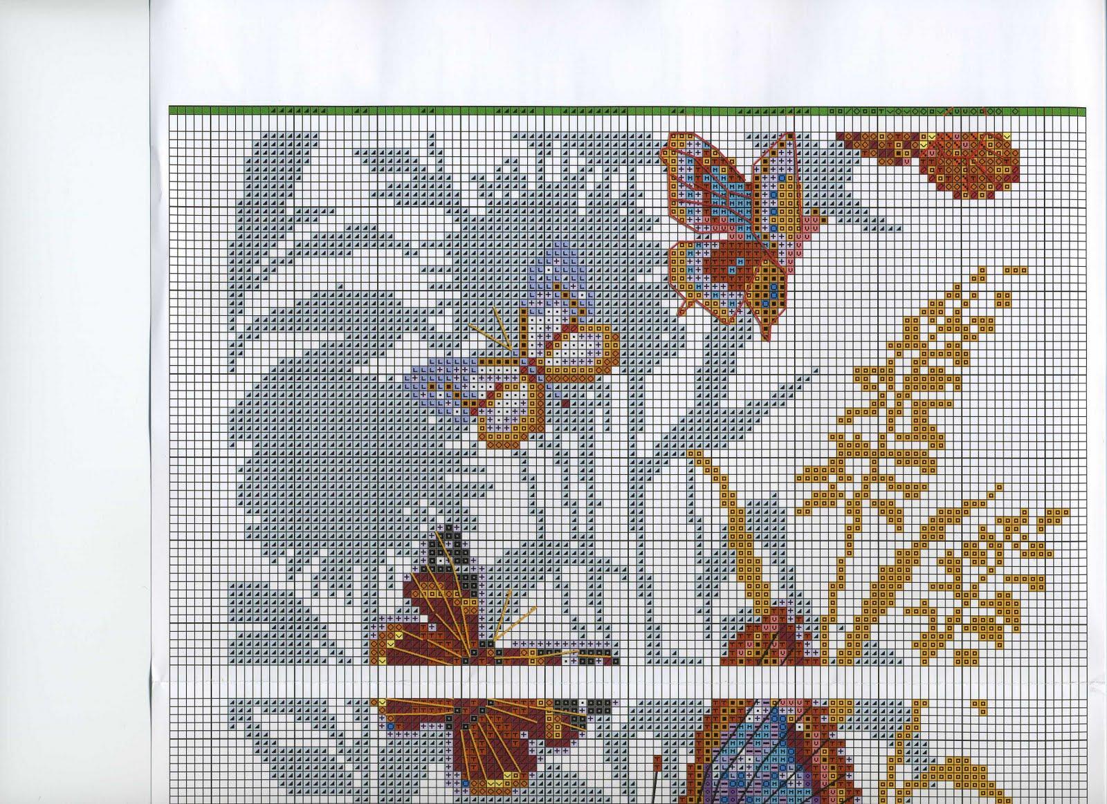 Вышивка бабочки от риолис 299