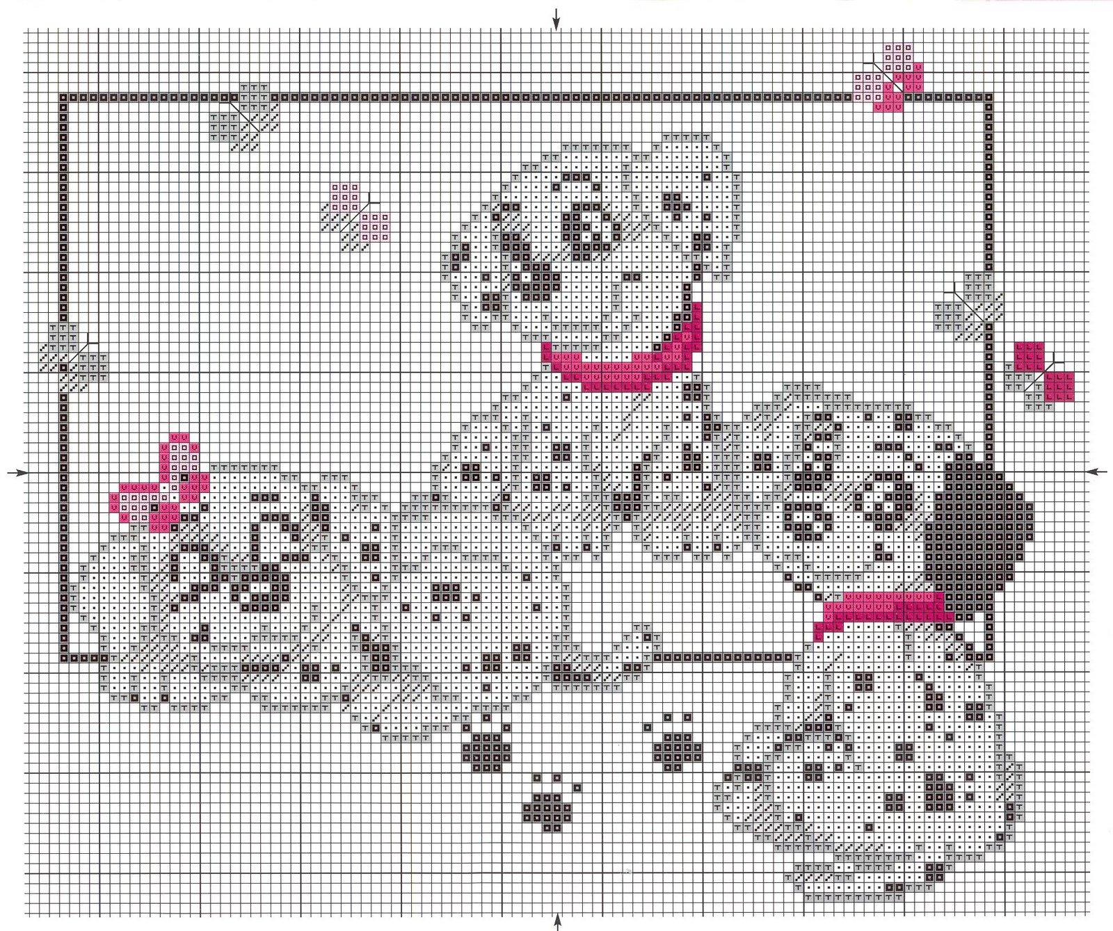 Трое щенков схема вышивки. схема трое щенков далматинцев.