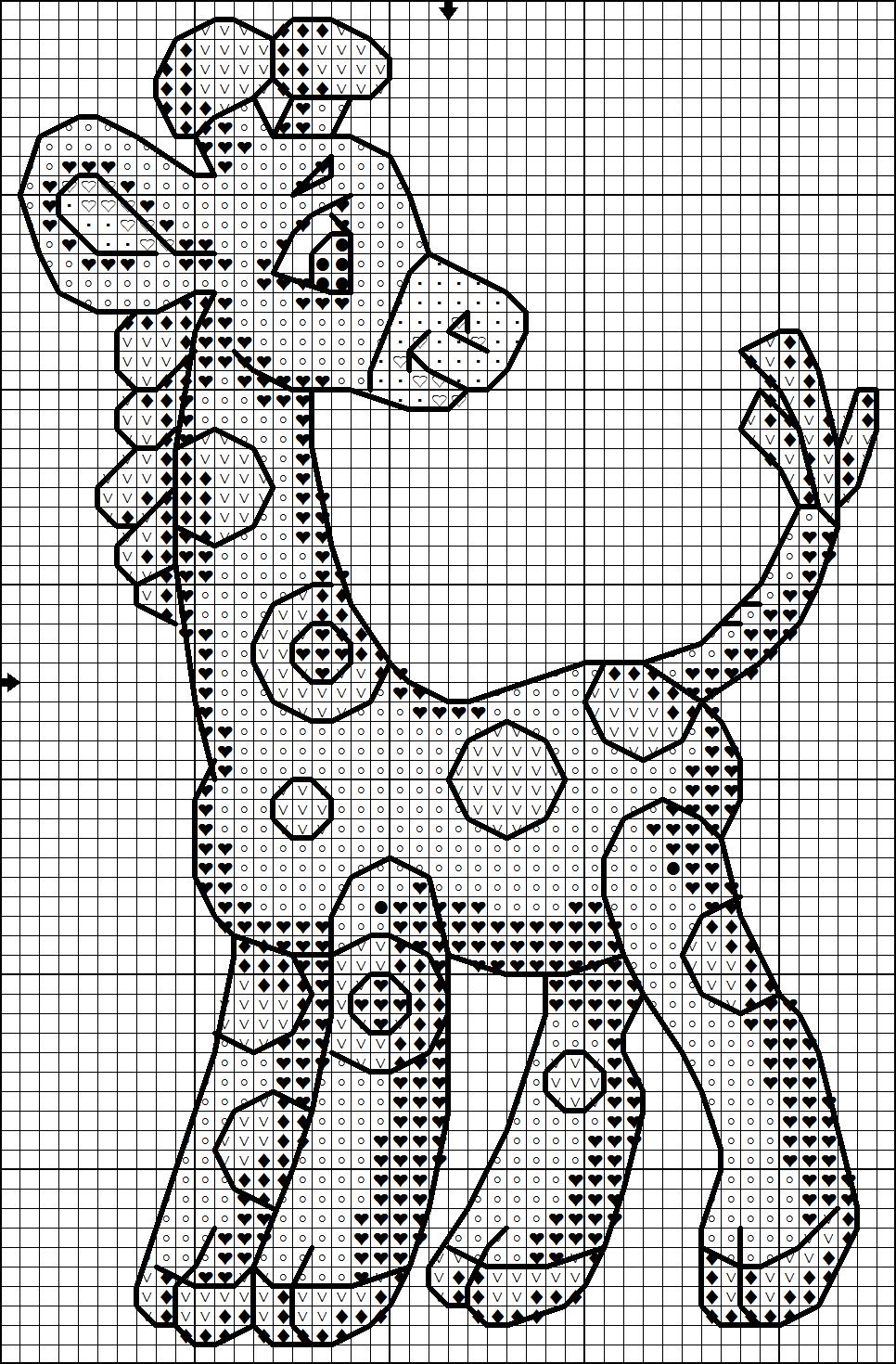 Схема вышивки жирафа бесплатно