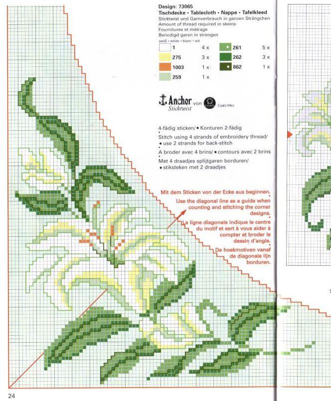 эту схему вышивки лилии