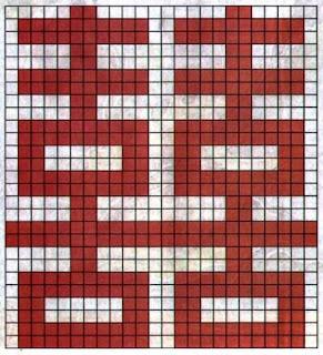 схема вышивки крестом символ двойного счастья