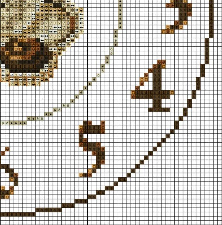 Схема вышивки часов крестом для кухни схемы