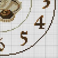 Схемы вышивки часов крестом.