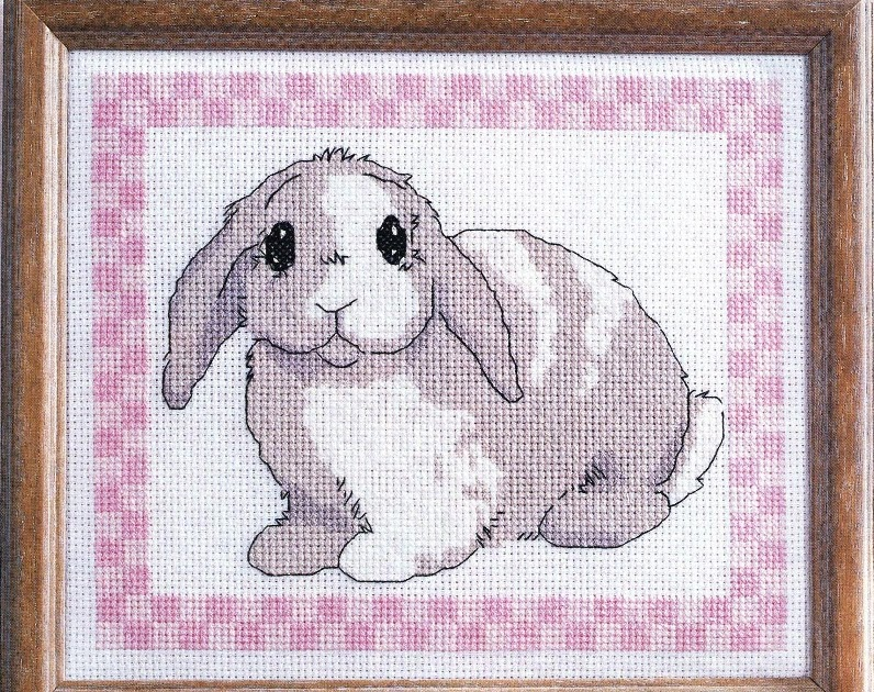 Вышивка зайцы кролики 70