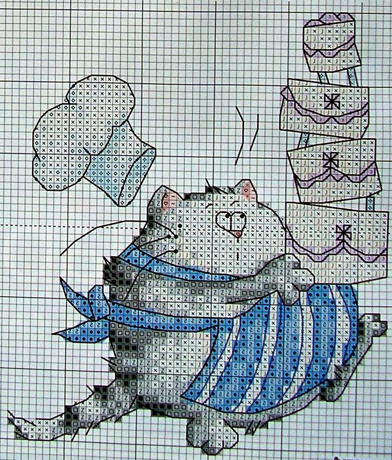 Схемка тут.  Несколько схемок кошек.  Вот нашла такой прикол.