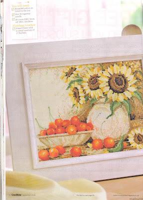 схемы вышивки крестом солнечный натюрморт