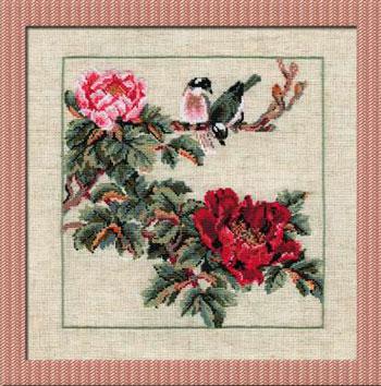 Схема для вышивки крестом две птички
