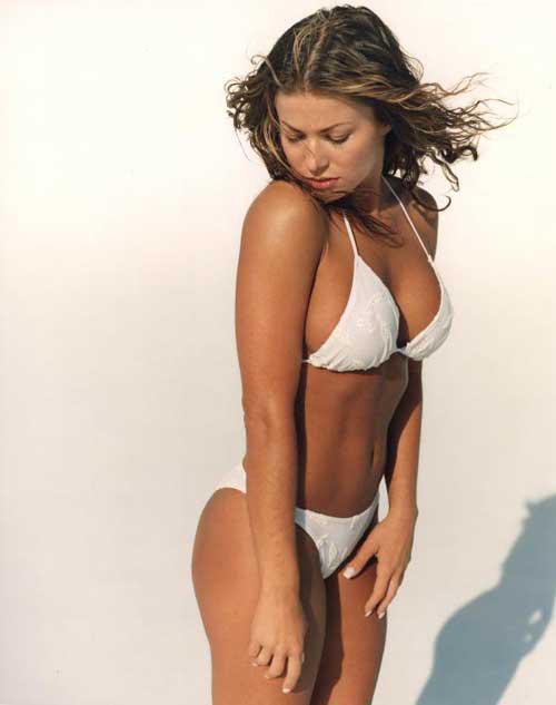 Carmen Electra White Bikini Photoshoot
