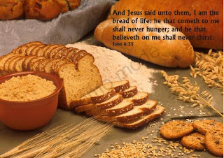 and Jesus said unto them, I am the bread of life; he that cometh to me shall never hunger; and he that believeth on me shall never thirst John 6 35 verse background image and Christian bible verse background inspirational religious pictures free download