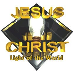 Jesus Christ is the light of the world - Beautiful golden letters clip art image free Christian religious pictures and bible clip arts free download