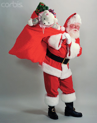 Santa Claus carrying gifts hot gallery