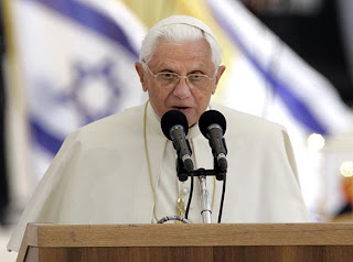 Pope Benedict XVI holy message at Ben Gurion International airport in Tel Aviv, Israel hq(hd) wallpaper