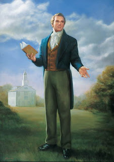 Portrait of Joseph smith studying book in colored art hq(hd) wallpaper