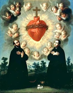 Angels praying Jesus Christ's Sacred Heart pic